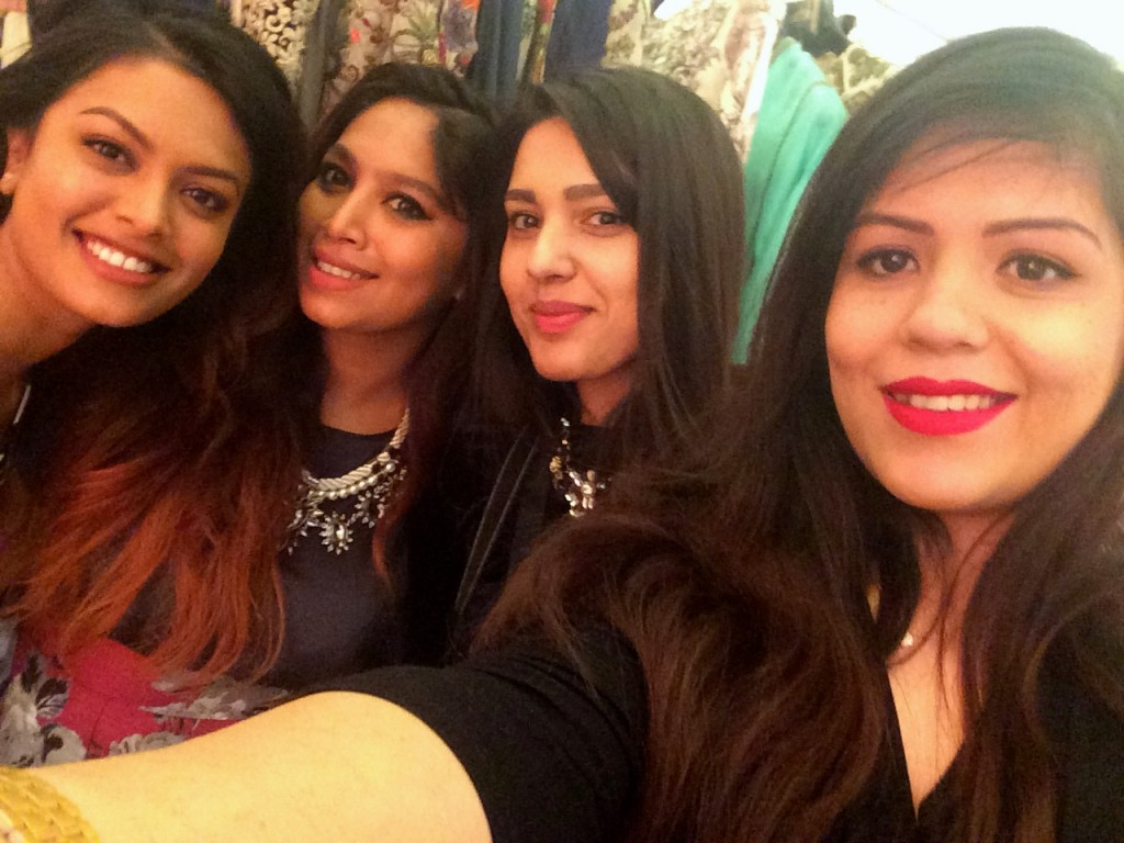 Asian fashion bloggers (From R to L - Desi Dossier, Me & London Ki Ladki)
